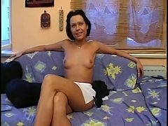 Mature brunette shows off her nice pussy