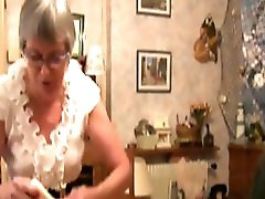 French granny fucked with sextoys