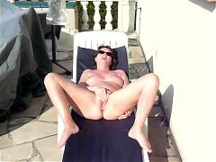 FrenchPus outdoor masturbation 1