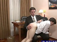 Twink Plays With Mature Cock