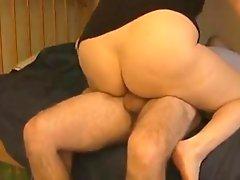BBW's Snatch Oozes Cum After Riding Cock