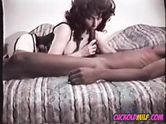 Cuckols Milf From 80's Sucking And Fucking Hired Black Bull