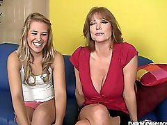Hot MILF and NOT Her daughter In A Threesome Together