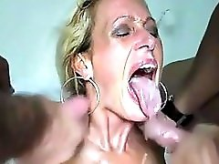 Amateur Mature MMF Threesome CIM Facials