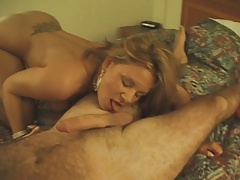Gorgeous babe with enormous tits gets doggy style bang