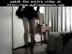 Fetish t babe dancing in killer heels shemale porn she