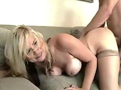 NastyPlace org Beautiful mom in stockings with her son roleplay