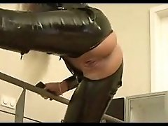 Latex anal and creampie