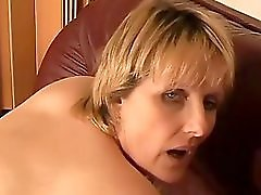 Mature On The Sofa Masturbation