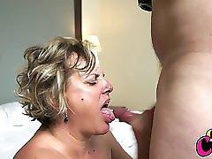 Busty mature MILF enjoying her husband's cock