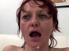 Five Cocks For A Mature Slut
