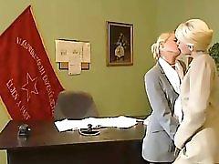 Blonde Office Lesbians