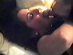 Cuckold husband films wife while she fucks a friend