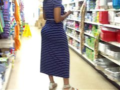 Bubble Booty Mom In Blue Dress