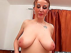 Soccer mom with natural big tits and well used pussy