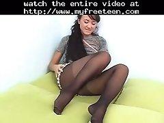 Sexy teen oxana in black tights teen amateur teen cumsh