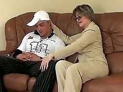 Sweet Mom With Saggy Tits & Guy