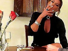 Sexy Smoking VS 120's and Handjob