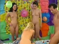 Three Young Cute Girls For 2 Boys