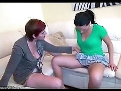 Old Threesome With Toys Young Girl Man And Old Chubby Granny