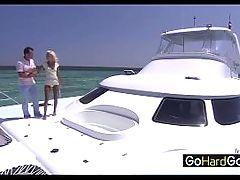Boroka Bolls George Fucking A Skinny Bitch On His Boat Porn