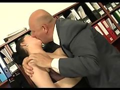 Old Boss Fucks His Young Plump Secretary
