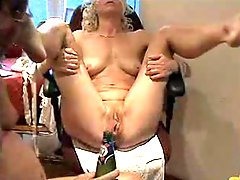 Mature tied down and pleasured from inserted objects