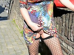 Sping Dutch MILF And Hubby Flashing Maastricht And Sex