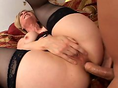 Lucky Guy Fucks Nina And Get His Ass Licked