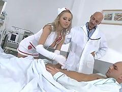 Uniform Sluts Hospital Threesome