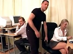 Horny Secretary Gangbang