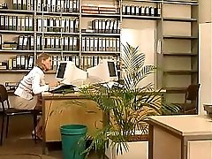 German Office Lesbians Playing With Bananas And Cucumbers