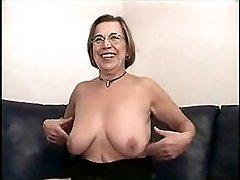 German Mature Dildo Masturbation And Cumshot
