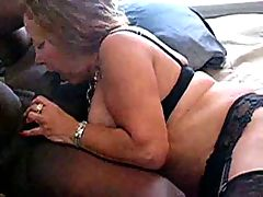 Voluptuous MILF in stockings gets a black cock workout