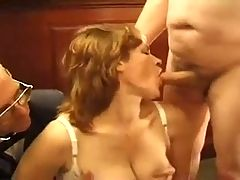 Submissive Ginger Wife Fucked After Hours !
