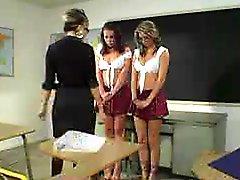 Mature Teacher And School Girls