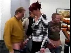 Mature Woman 's first Gangbang 3 F70