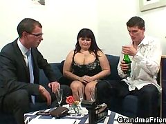 Super Busty Mature Threesome Action