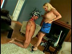 Classic Blonde Cougar Banging Everyway