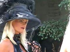 Blonde Fetish Slut Kathleen in bizzare Outdoors Scene