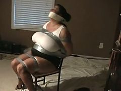 Super sexy BBW tied up