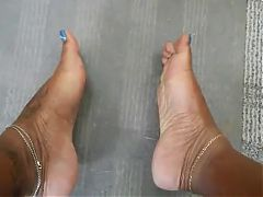 The same person who has her toes