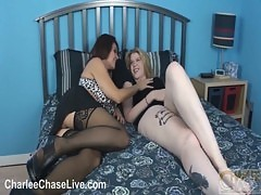 Charlee Chase Tastes A Shy Teen&#039 S Pussy!