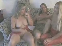 Hot Mature Amateur Cougars Smoking and Playing GGG