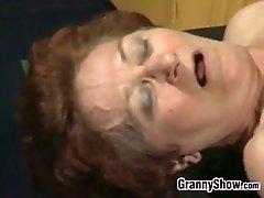 Granny and a stud having sex