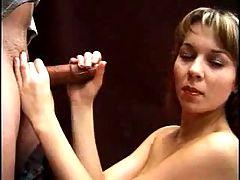 Naturally alluring and beautiful amateur gives a handjob