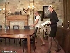 German Milf into sex by younger guy