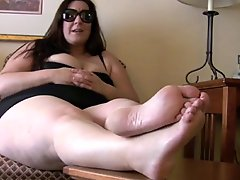 BBW feet foot mistress with slave