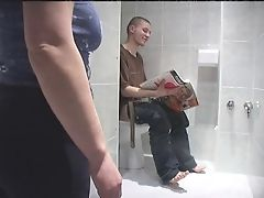 Mature fuck in toilet