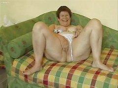 Horny Granny Masturbating Her Big Pussy !